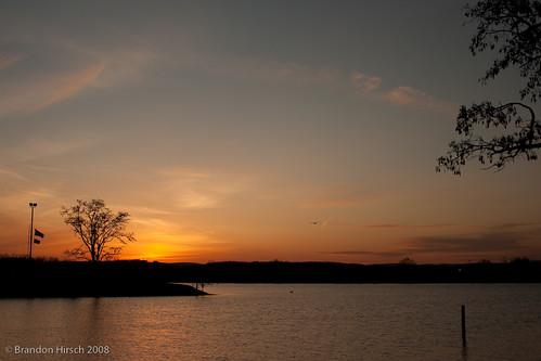sunset water northampton massachusetts 2009