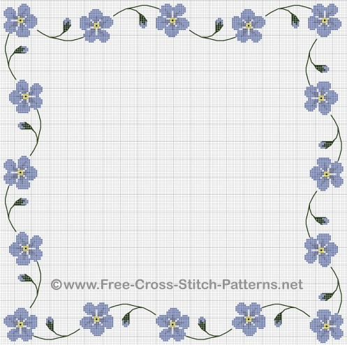 Cross Stitch Borders A Victorian Forget Me Not Cross Stitc Flickr