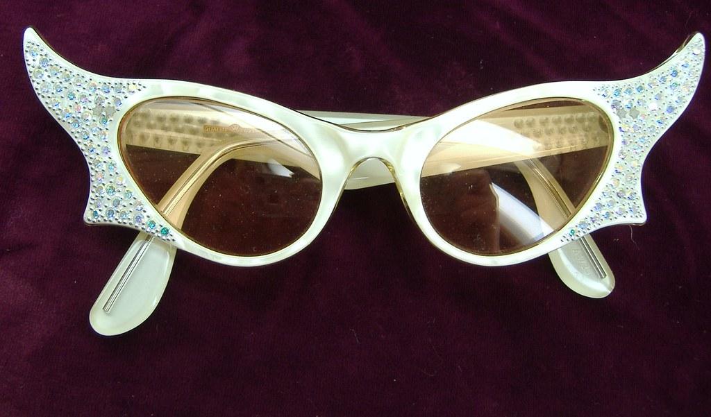 82f6942a6162 ... vintage50seyewear Vintage France Rhinestone winged cat eye Sunglasses |  by vintage50seyewear