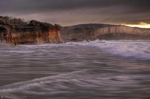 ocean sunrise dawn waves australia victoria cliffs granite greatoceanroad anglesea