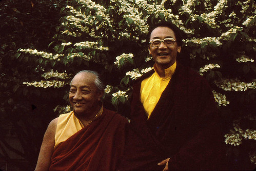 HH Dilgo Khyentse Rinpoche and HH Dagchen Sakya, Seattle, Washington, USA 1976 by Wonderlane