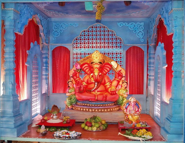 Ganpati thermocol makhar 2013 joy studio design gallery for Background decoration for ganpati
