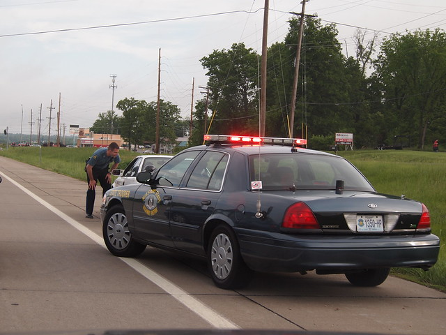 Missouri State Highway Patrol Crown Victoria Police Car Traffic Stop_P5135447