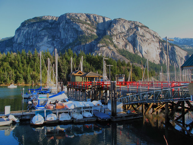 Colourful Squamish Marina
