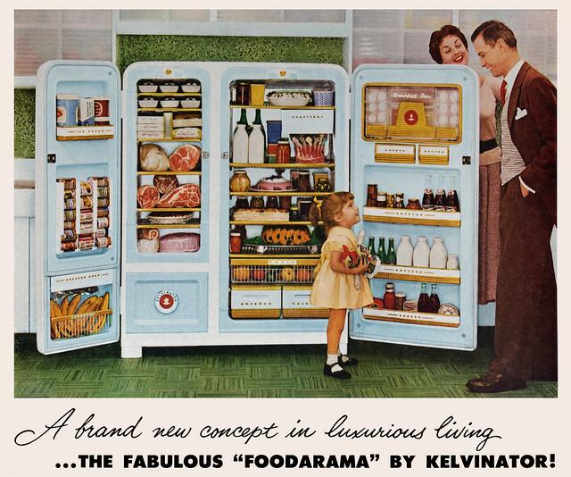 Kelvinator FOODARAMA ad, 1955