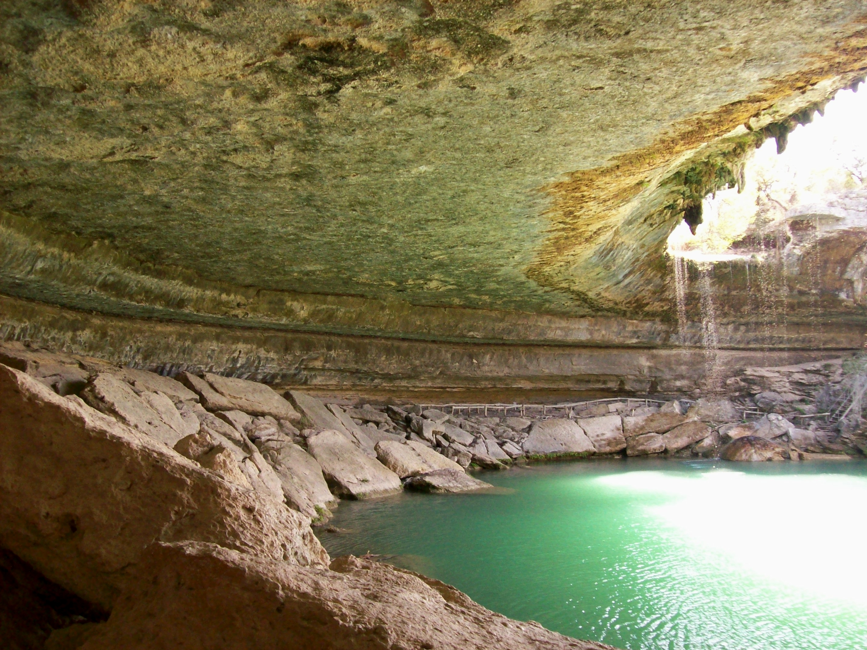 underneath the limestone canopy at hamilton pool in the. Black Bedroom Furniture Sets. Home Design Ideas