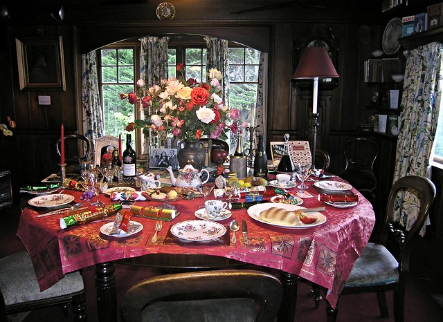 Dining Table Set For Christmas Dinner Ngaio Marsh House