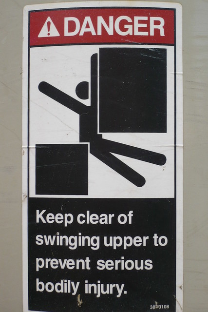 Keep Clear Of Swinging Door : Keep clear of swinging upper flickr photo sharing