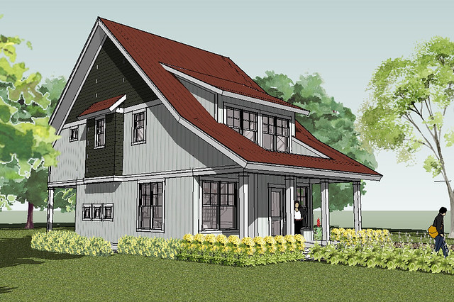 Bayport cottage house plan rendering flickr photo sharing Simply elegant house plans