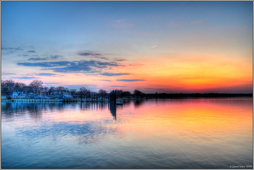 sunset reflections river shark hdr belmarnj photomatix nikond90 jasonicker jasonickercom