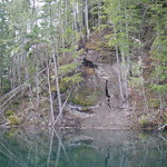 Lake Kokanee landslide, south of Lake Cushman, Mason County