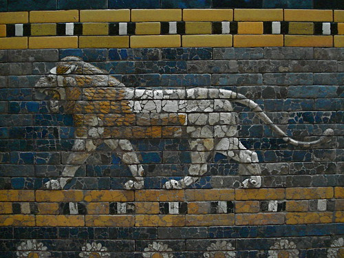 Detail on processional way of Babylon, Pergamonmuseum, Berlin