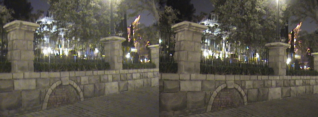 3D, 1764 sewer, Haunted Mansion, New Orleans Square, Disneyland®, Anaheim, California, night, color slow shutter, 2009.04.10 23:17