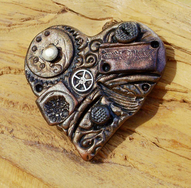 Steampunk Heart Brooch
