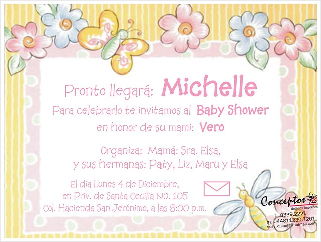 Invitaciones de mariposas de baby shower - Imagui