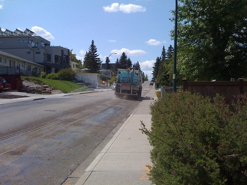 Street cleaning near Marda Loop