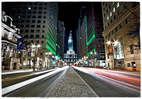 urban cars philadelphia night buildings lights centercity cityhall government 1022mm broadstreet unionleague