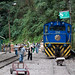 Small photo of Goods train at Aguas Calientes