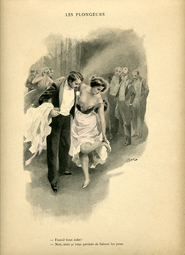 "Illustration from the book ""La Femme intime"" (1894 year)"