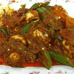 Malaysian Food, Okra and Squid in Sambal Sotong - Kuala Lumpur, Malaysia