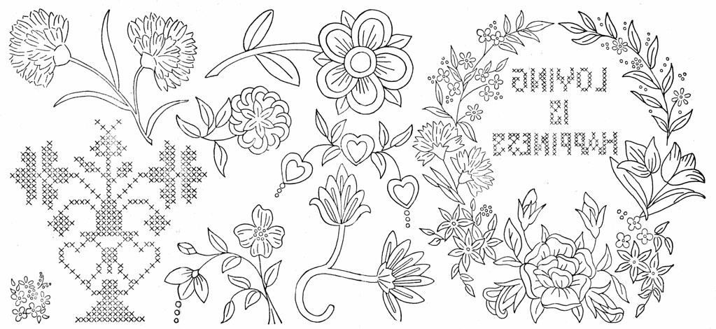 Vintage embroidery transfers flickr photo sharing