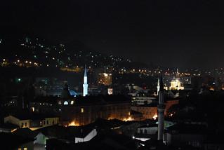 Sarajevo - old town at night