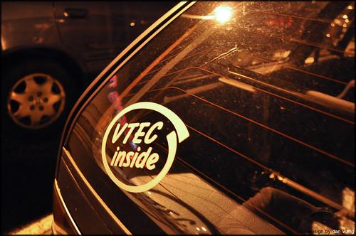 vtec inside sticker