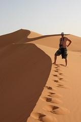 Hubbers on sand dunes in Libya