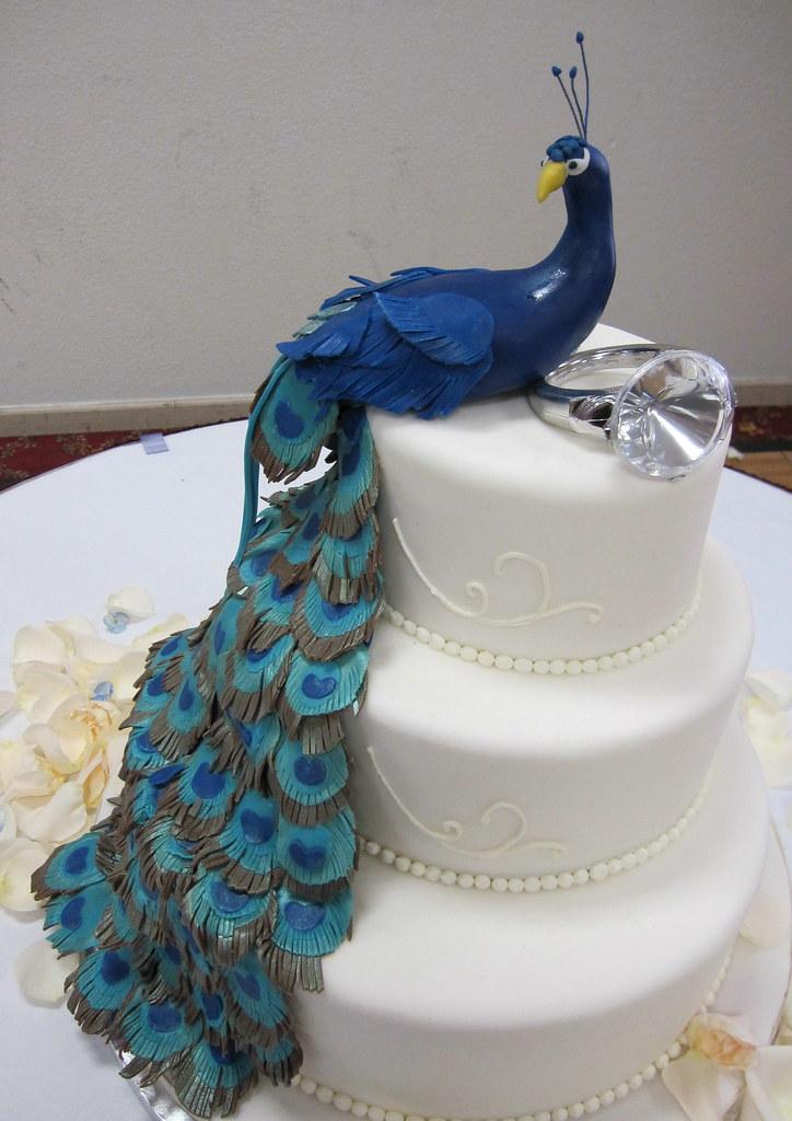 Masses Pastries Peacock Wedding Cake