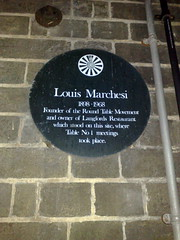 Photo of Louis Marchesi green plaque