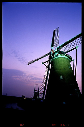 sunset film windmill japan twilight sakura 20mm 2008 佐倉 nikonf6 風車 印旛沼 imbanumamarsh 黄昏刻