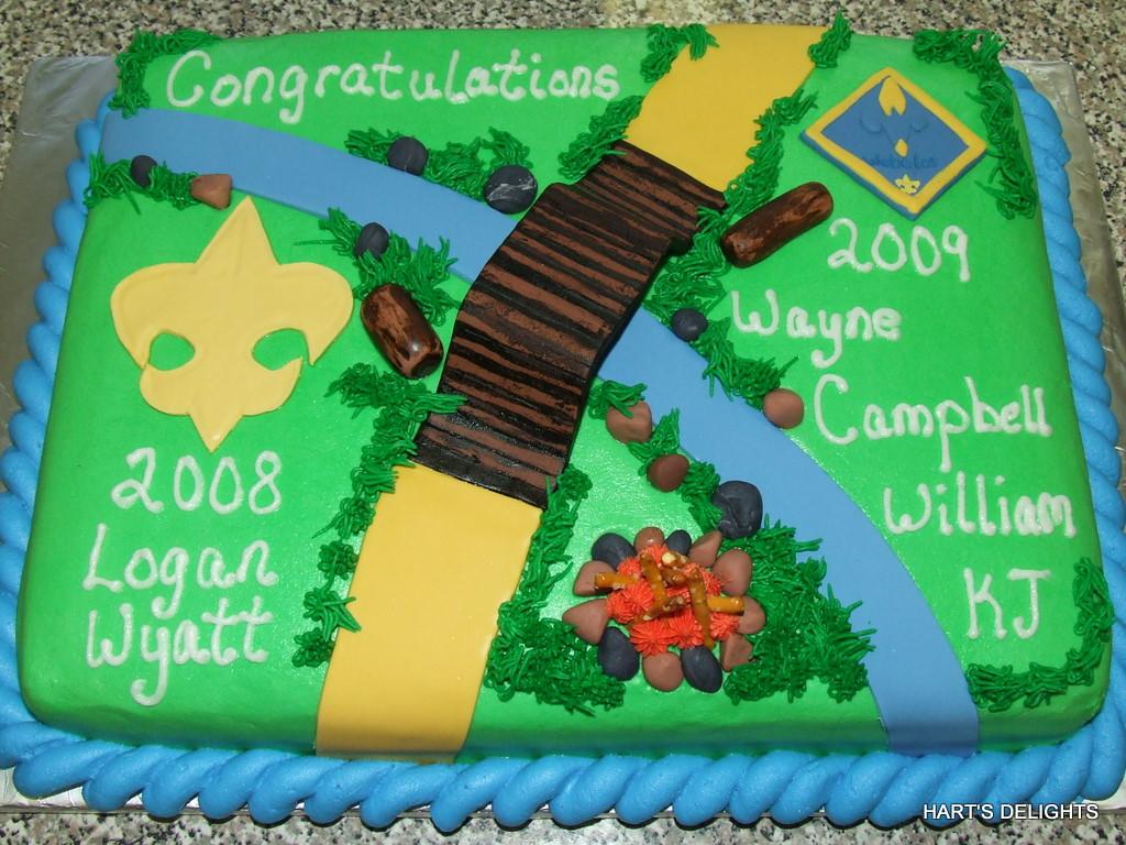 Boy Scout/Cub Scout Graduation Cake
