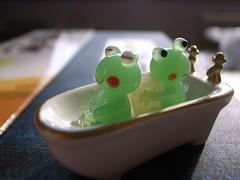 入浴カエル