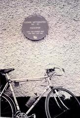 Photo of Ludwig Wittgenstein brown plaque