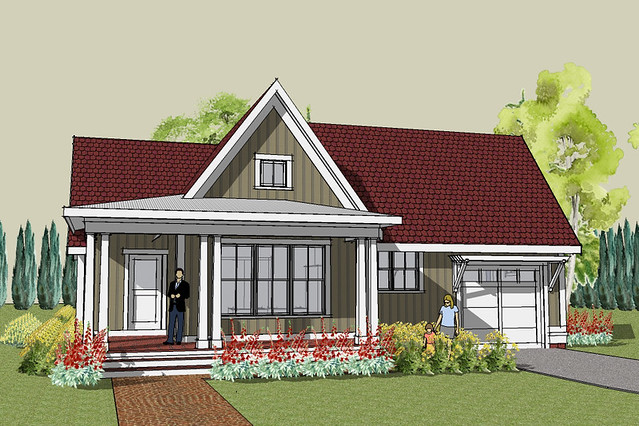 Hudson cottage house plan exterior house designed by ron Simply elegant house plans