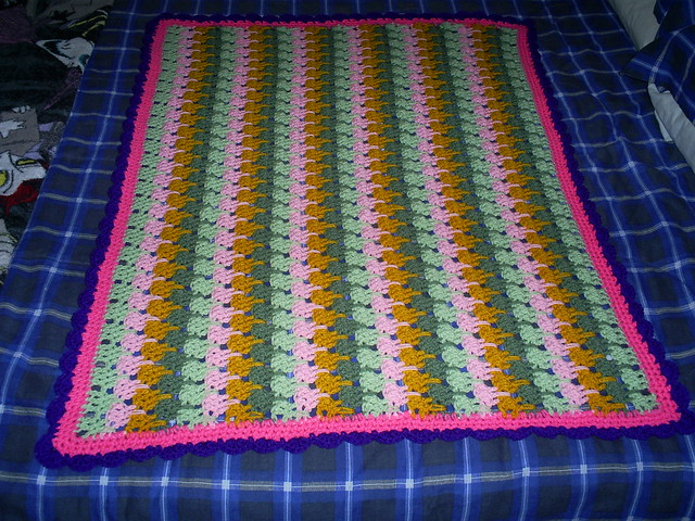 Larksfoot Crochet Baby Blanket Pattern : Crochet Larksfoot Baby Blanket 002 Larksfoot crochet ...
