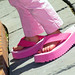 Girly girls will buy the pink platform flip flops even if the store doesn't have the right size...