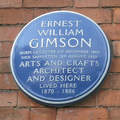 Photo of Ernest William Gimson blue plaque
