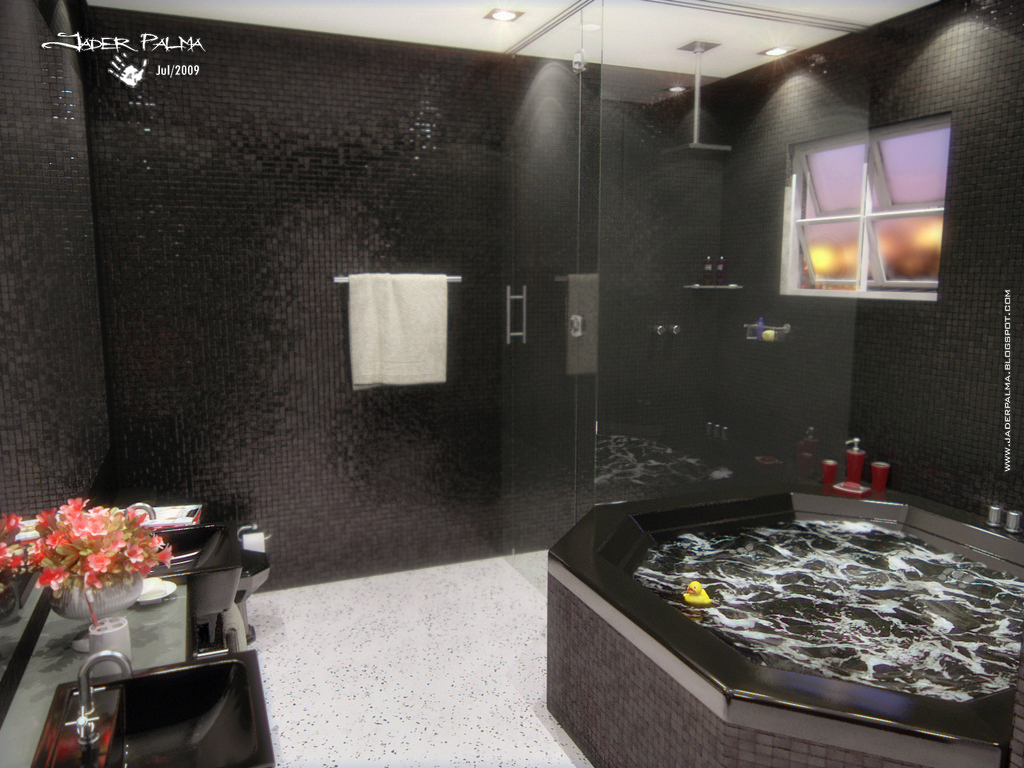 Banheiro com pastilhas cerâmicas 01 by Jader Palma