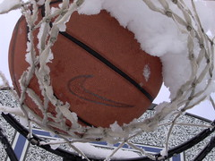 Snowed-in basketball