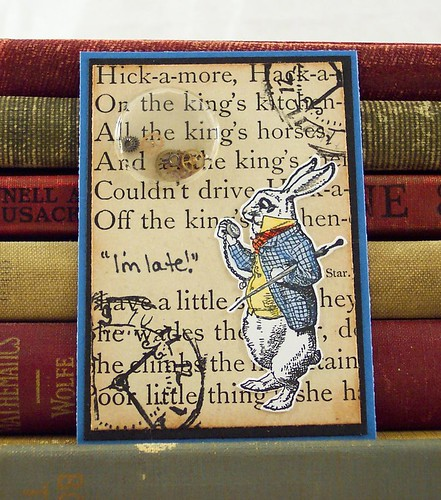 White Rabbit Alice in Wonderland ATC
