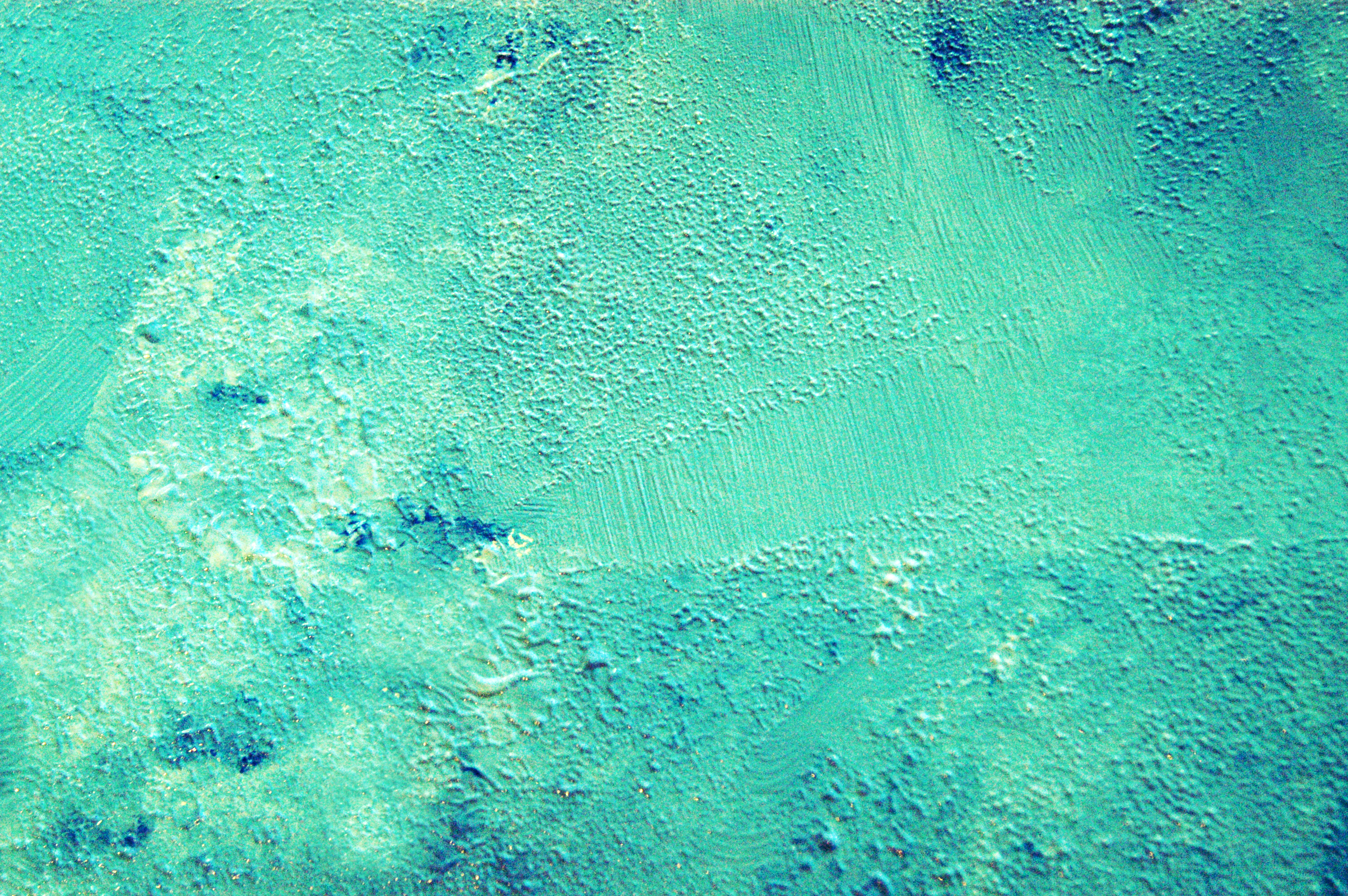 Turquoise kid sponge paint flickr photo sharing for How to make teal paint