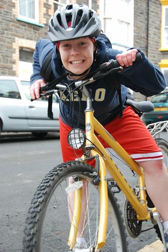 Cycling up Penglais