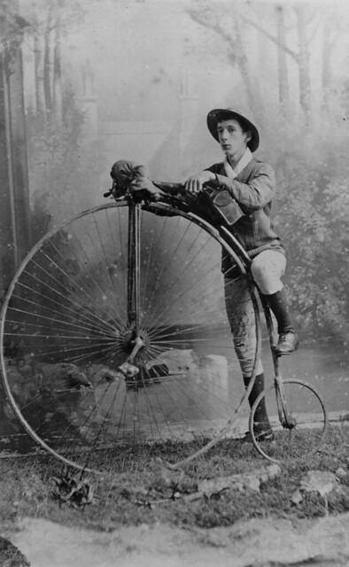 Long distance cyclist, G. E. B. Timewell, 1884