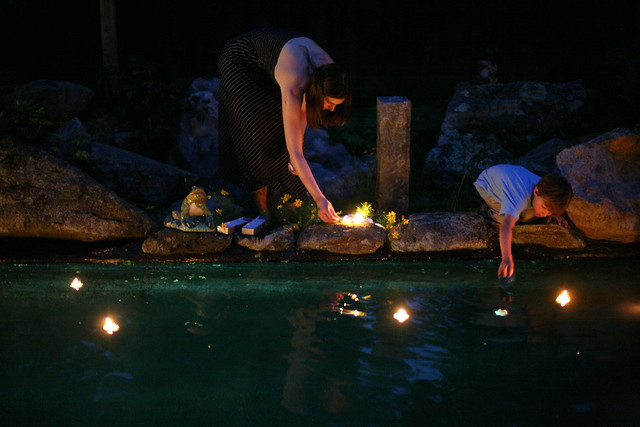 Floating Candles In The Pool Flickr Photo Sharing