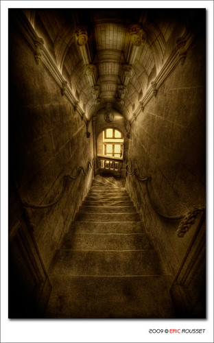 Staircase in Chenonceau Castle (France)