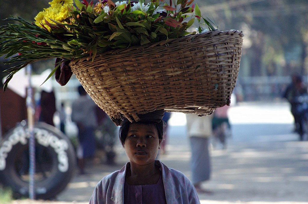 Flower Lady, Myanmar