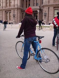 Fixie Girl - Bikehugger Mobile Social - SXSWi 2009