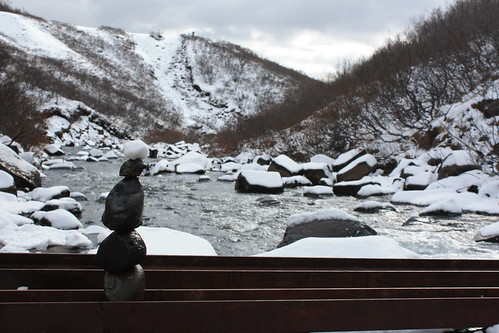 snow balance - Svartifoss, Iceland