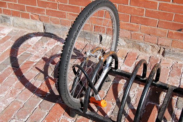Lock the bike...